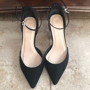 Black classy pointed toe high heels